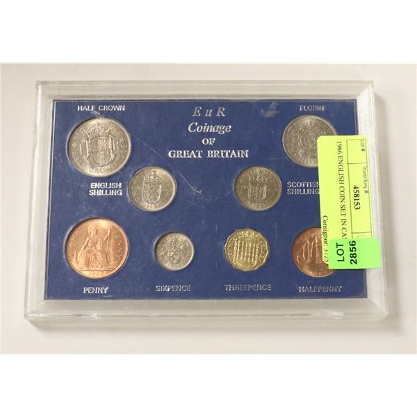 1966 ENGLISH COIN SET IN CASE