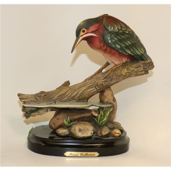 DECORATIVE PAINTED BIRD STATUE PRINCE COLLECTION