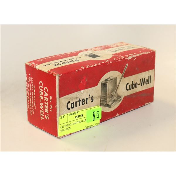 ART DECO CARTERS CUBE WELL IN ORIG BOX