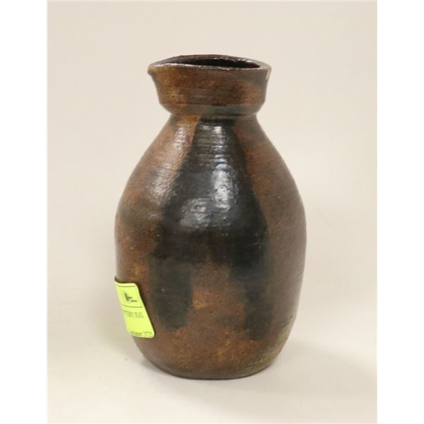 SMALL ARTIST MADE POTTERY JUG SIGNED ON BASE