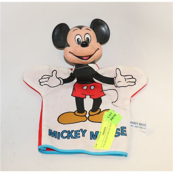 1950S MICKEY MOUSE HAND PUPPET