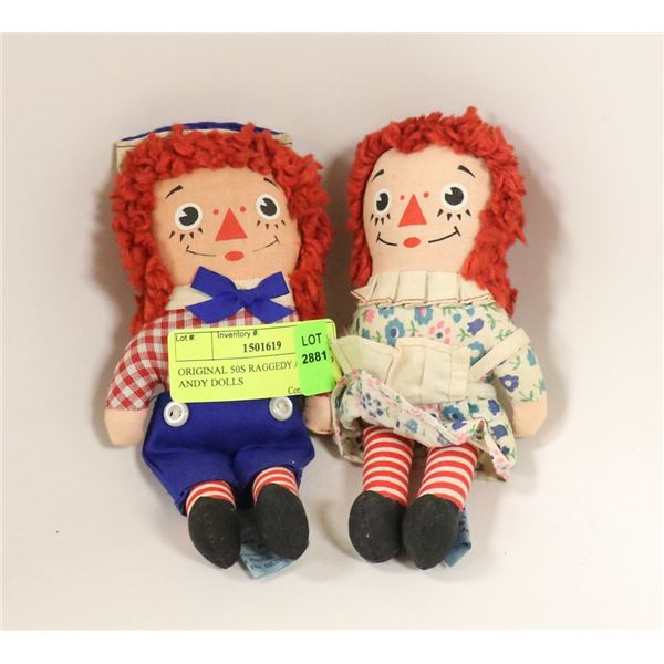 ORIGINAL 50S RAGGEDY ANNE AND ANDY DOLLS