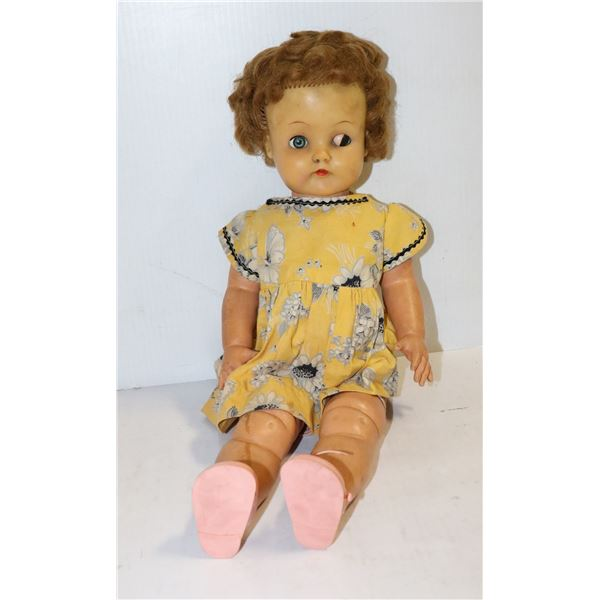 1950S RELIABLE TALKING DOLL YELLOW DRESS