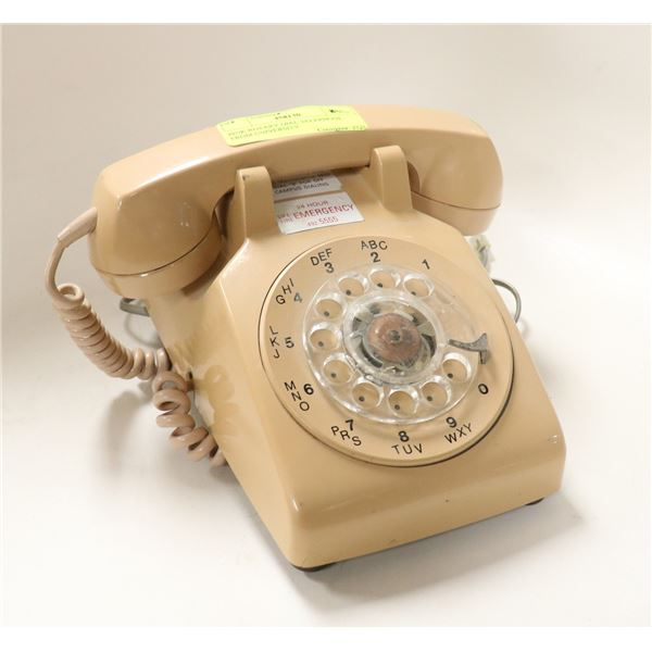 PINK ROTARY DIAL TELEPHONE FROM UNIVERSITY