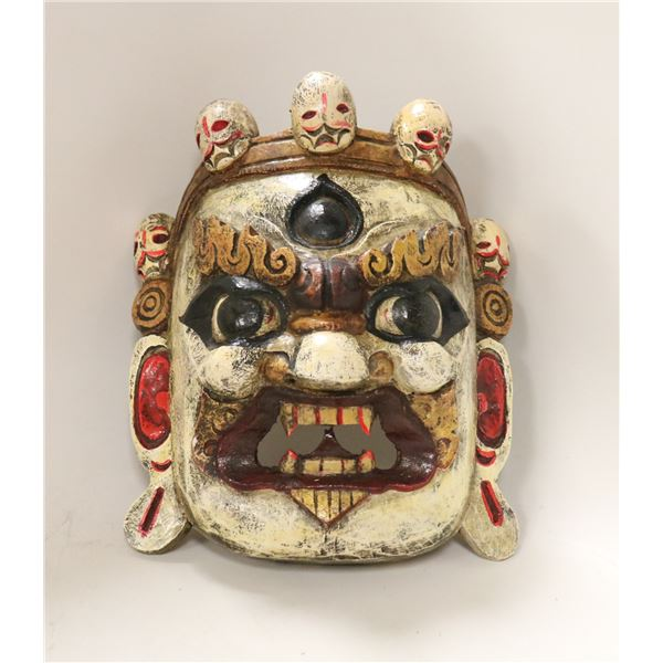 HAND PAINTED WOODEN NEPALESE MASK
