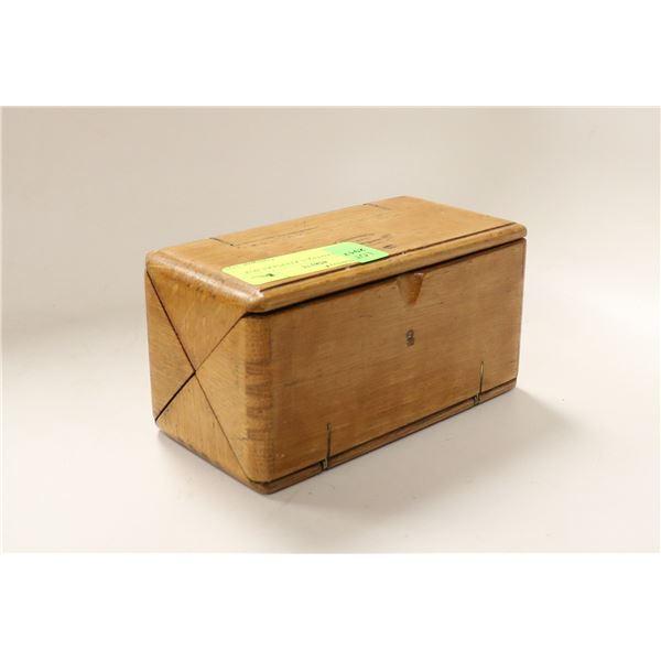 FOLDING ANTIQUE KEEPSAKE BOX