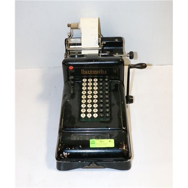 1920S BURROUGHS ADDING MACHINE VISIBLE GLASS
