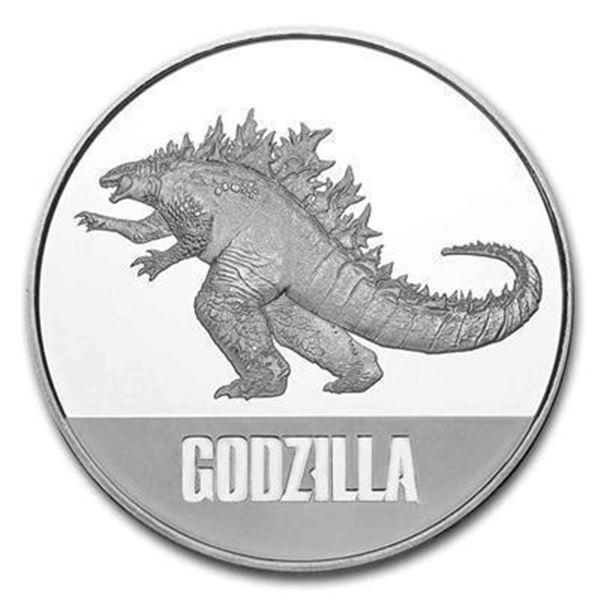Godzilla .999 Fine Silver 1oz Round.