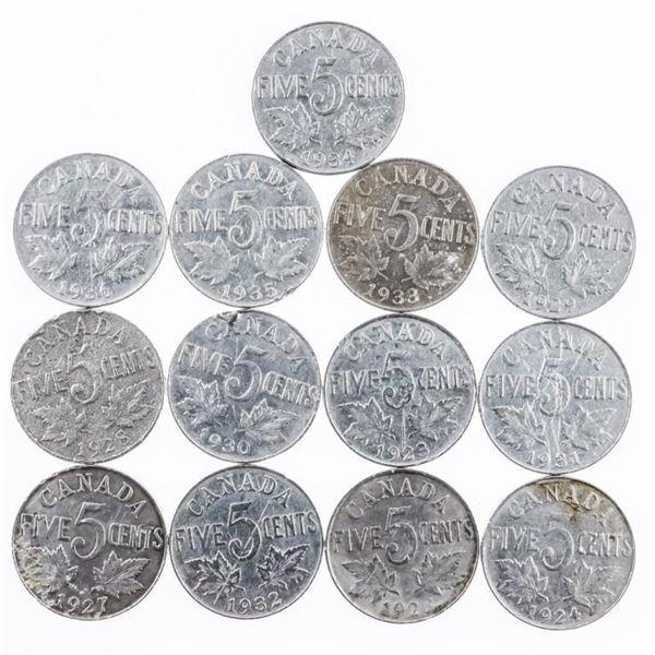 Lot 13 King George Canada Nickels
