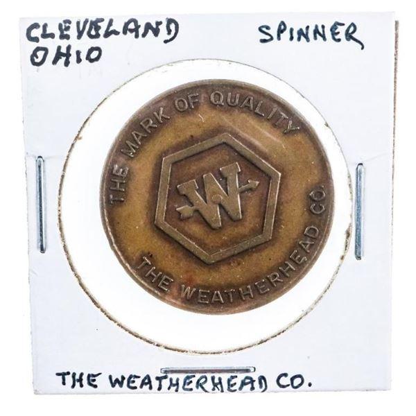 Cleveland Ohio Spinner - The Weatherhead  Company - Bar Token