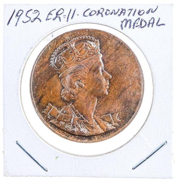 1952 GB ER 11 Bronze Coronation Medal