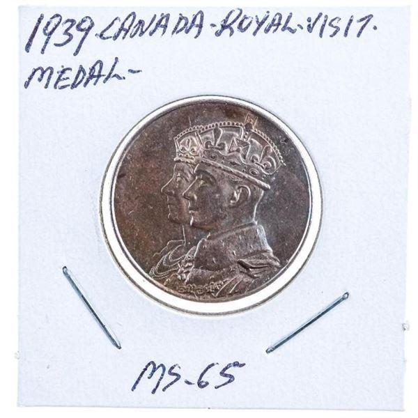 1939 Canada Royal Visit Bronze Medal MS65