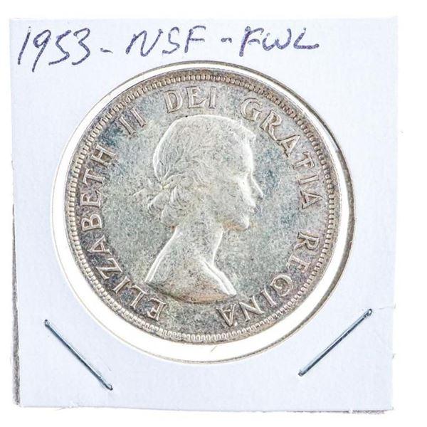 Canada 1953 Silver Dollar NSF
