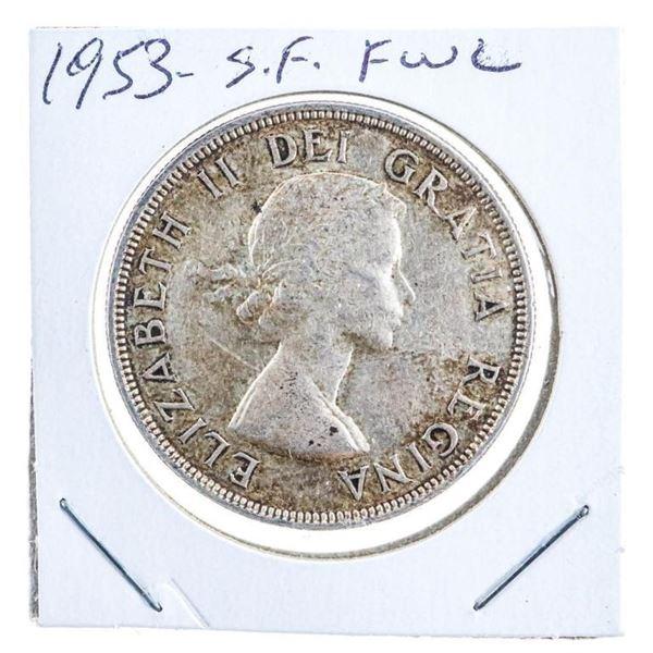 Canada 1953 Silver Dollar SF FWL