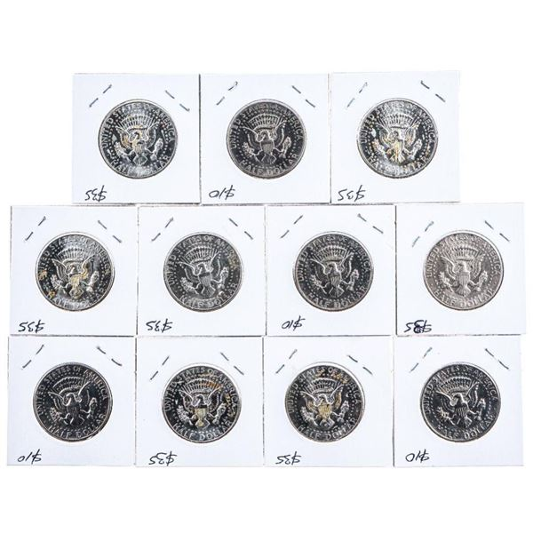 """Group of 9 USA 50 Cent Coins 1964 -1970""""s"""
