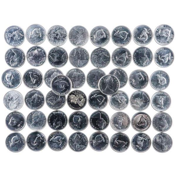 Lot 50 RCM 1867-1967 Rabbit Nickels