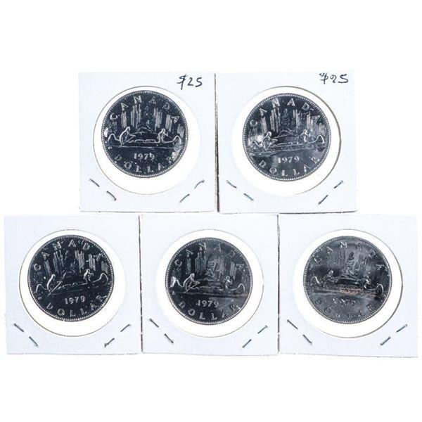 Lot 5 Canada 1979 1 Dollar Coin SP67