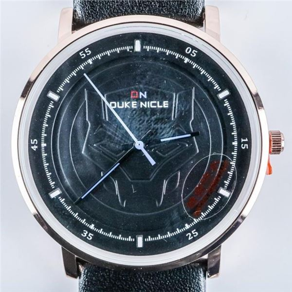 DUKE NICLE - Gents Qtz. Watch, Marvel Design  on The Face/Leather Band - WP