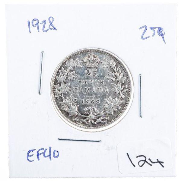 1928 Canada Silver 25 Cents