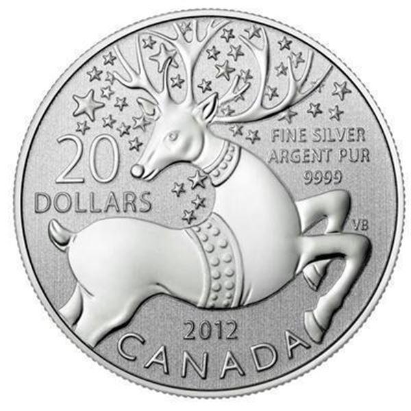 RCM 2012 Reindeer Happy Holidays Fine Silver  $20 Coin Folio