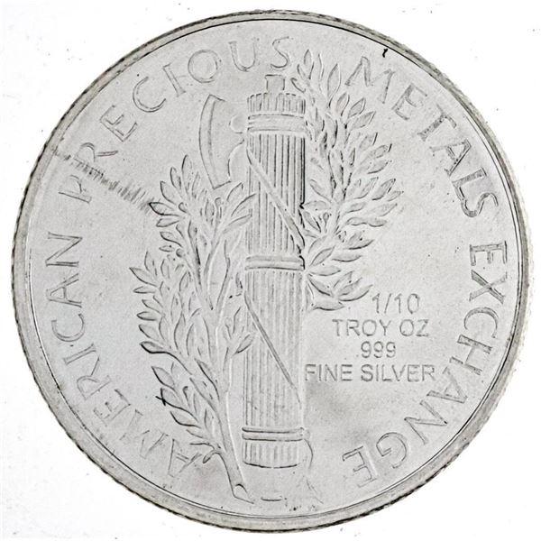 USA .999 Fine Silver Liberty head Round  Bullion