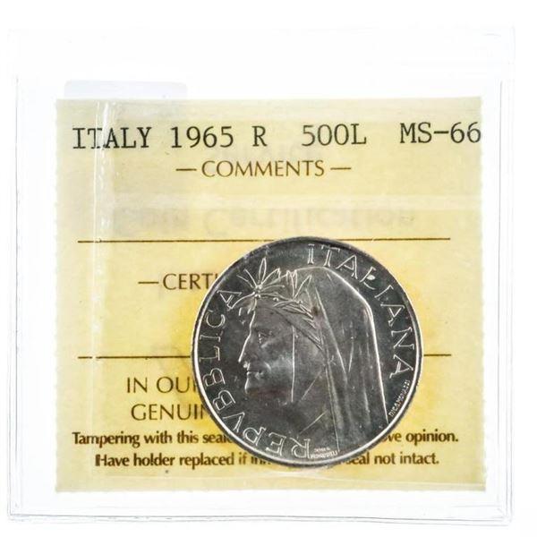 ITALY 1965 R 500L MS66 ICCS