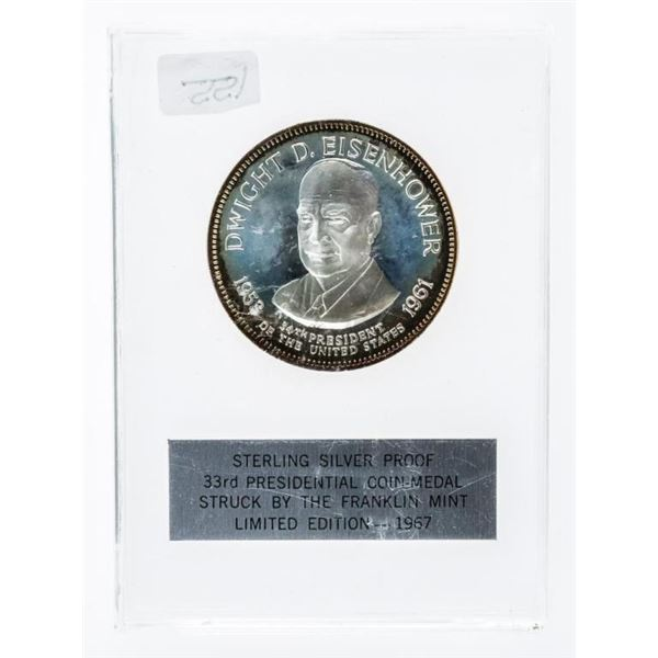 Sterling Silver Proof Presidential Coin -  Medal -Dwight D. Eisenhower LE -1967