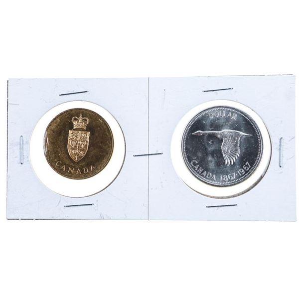 1867-1967 Silver Dollar & GP Medallion