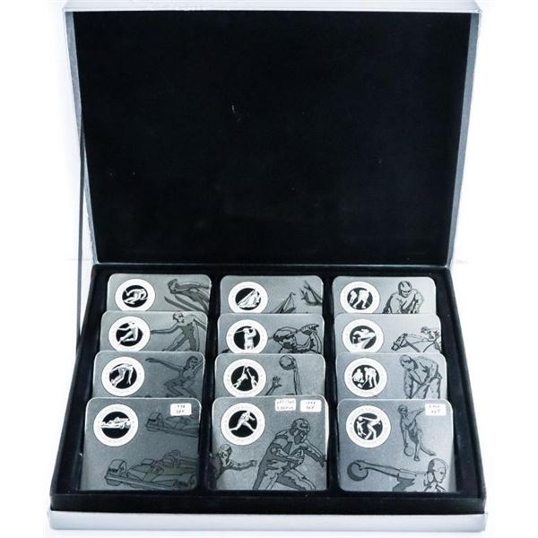 12 Pc. Set Sterling Silver Olympic Coins  -1998-1999-2000