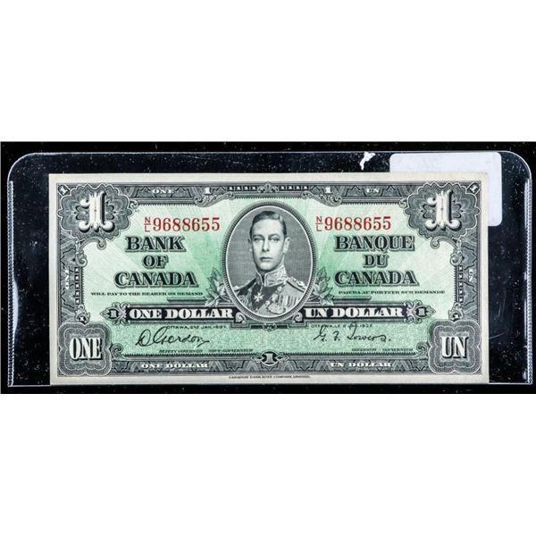 OLMSTEAD ORIGINAL Bank of Canada 1937 $1 UNC  60