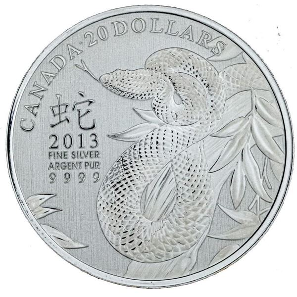 RCM 2013 Fine Silver Year of The Snake $20