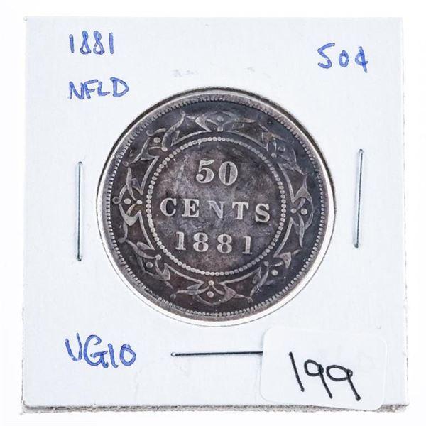 1881 Newfoundland Silver 50 cents