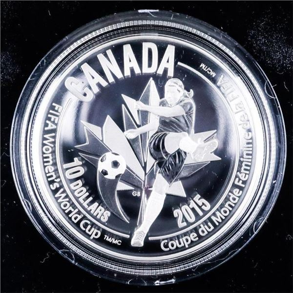 RCM 2015 Fine Silver $10 Coin - Woman's World  Cup