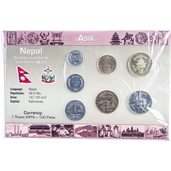 Asia - Nepal Coin Display