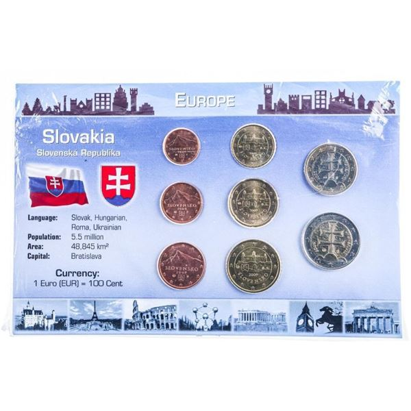 Europe- Slovakia Coin Display