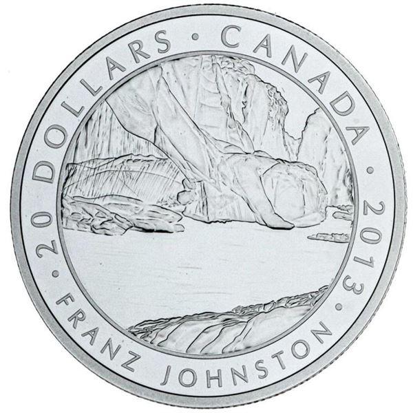 RCM 2013 Fine Silver $20 Franz Johnston Proof  Coin & Giclee Art Card.