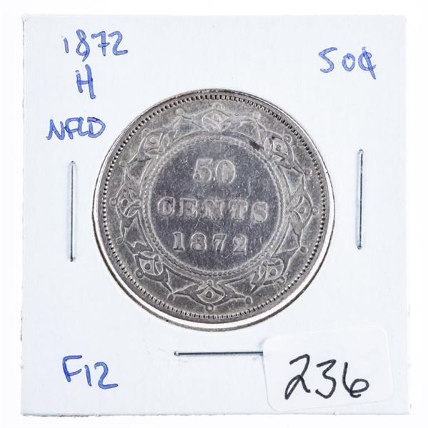 1872H NFLD. Silver 50 Cents