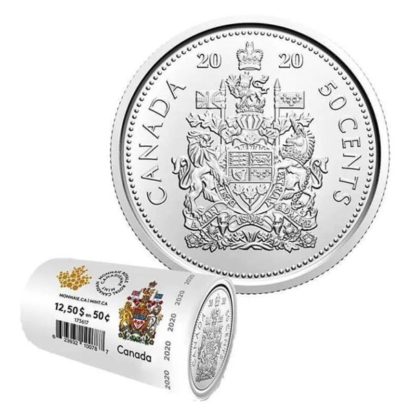 2019 RCM Special Wrap Roll 50 Cent Coins x 25  Coins