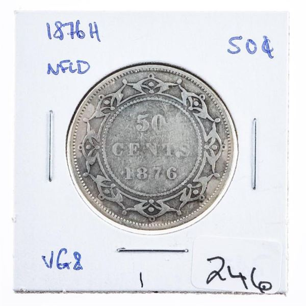 1876H NFLD. Victoria Silver 50 Cents
