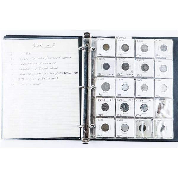 Estate Coin Collection (Book #5) - Cuba,  Egypt, Bermuda, Ghana, Malta, Ireland,  Denmark, Etc.