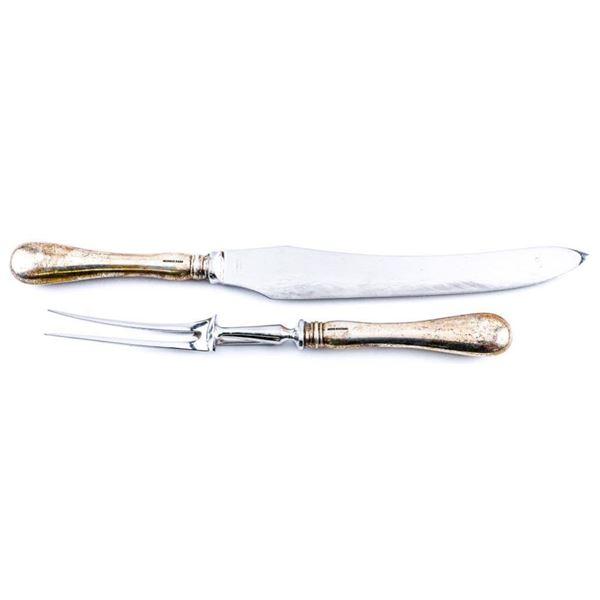 Lot of 2 BIRKS Sterling Silver Carving Knife  & Fork