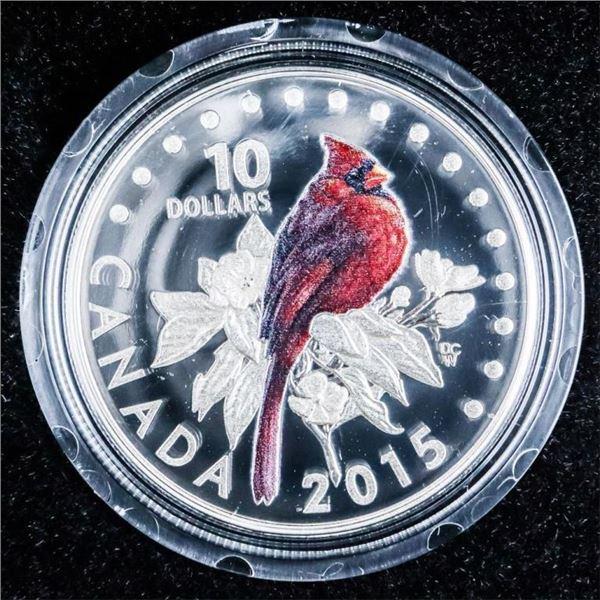RCM 2015 Fine Silver $10- The Cardinal