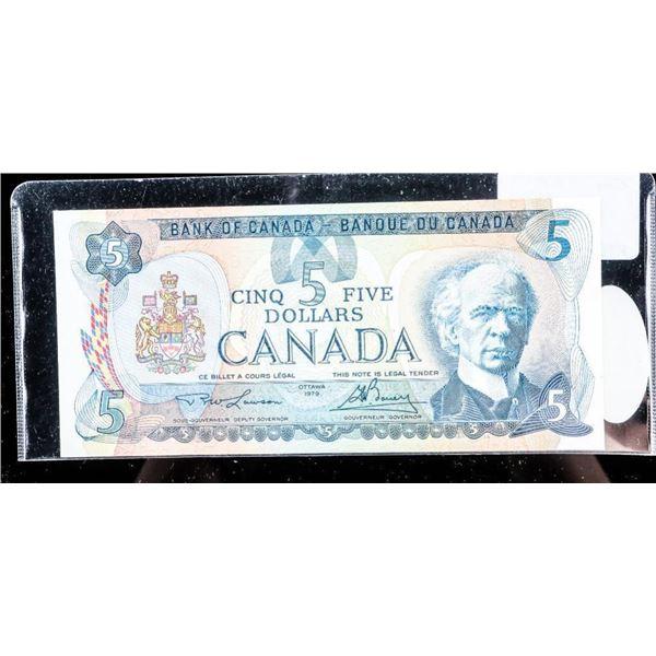 OLMSTEAD ORIGINAL Bank of Canada 1979 $5 GEM  UNC
