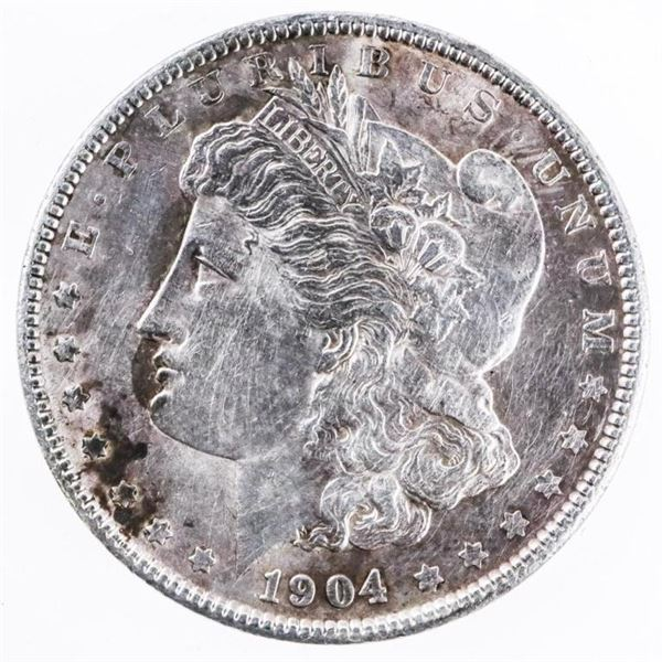 1904 USA Silver Morgan Dollar -Toned