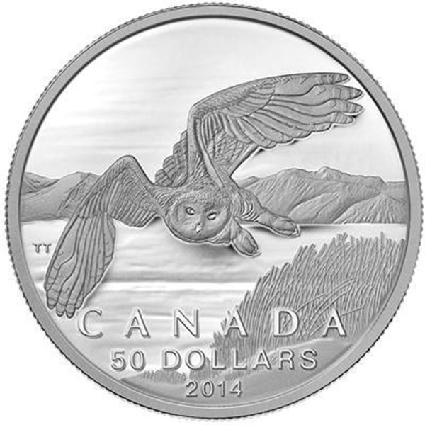 RCM 50.00 Fine Silver Owl (.9999). SOLD OUT.