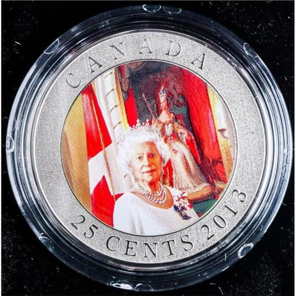RCM 25 Cent Coin Portrait of Her Majesty The  Queen