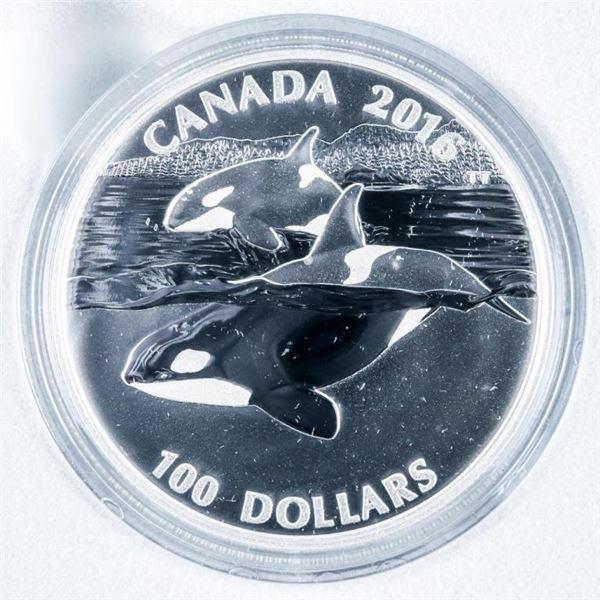 RCM 2016 .9999 Silver $100 Whale Coin