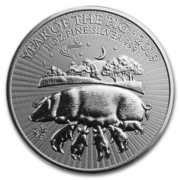Sold Out - Great Britain's Year of The Pig  .999 Fine Silver Round.