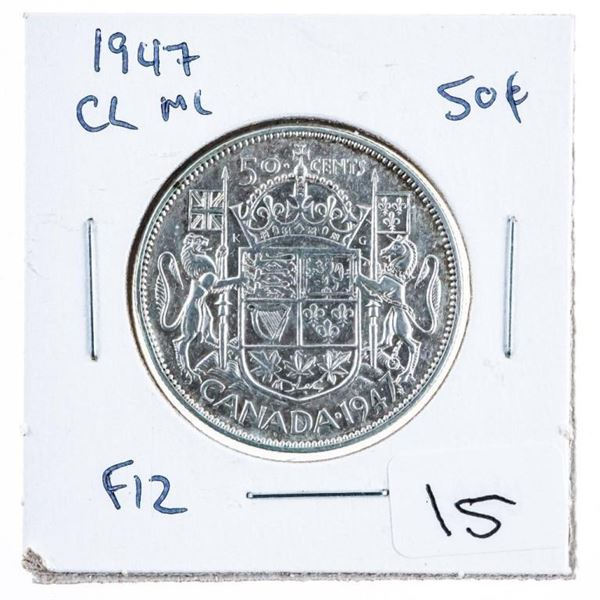 1947 CL ML Canada Silver 50 Cents