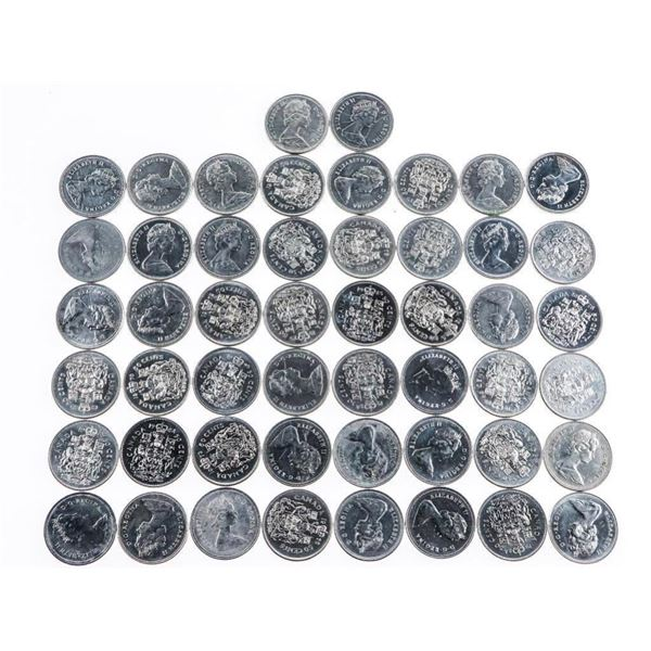 Lot 50 Canada 50 Cent Coins